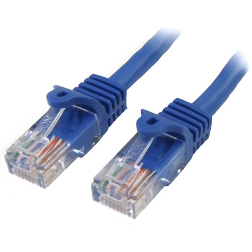 StarTech.com Cable de 3m Azul de Red Fast Ethernet Cat5e RJ45 sin Enganche - Cable Patch Snagless - Extremo prinicpal: 1 x