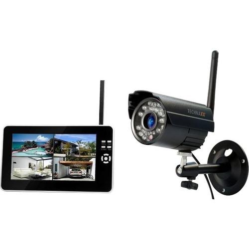 Technaxx TX-28 4 Channel Outdoor Wireless Video Surveillance System - Camera, Monitor, Receiver - 1 Camera(s) - 420 Camera