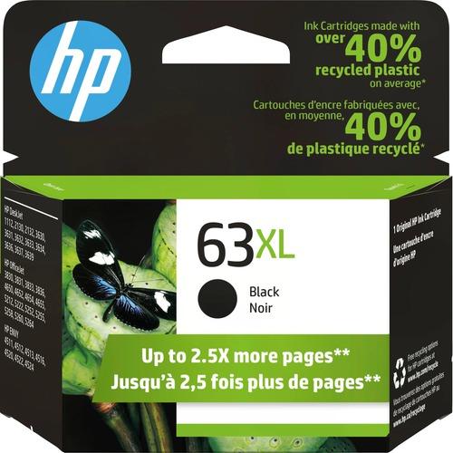 HP 63XL Original Ink Cartridge - Single Pack - Inkjet - High Yield - 480 Pages - Black - 1 Each