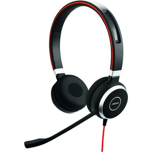 Cuffie Jabra EVOLVE 40 Cavo Over-the-head Stereo - Binaural - Supra-aural - Cancellazione del rumore Microfono - Noise Can