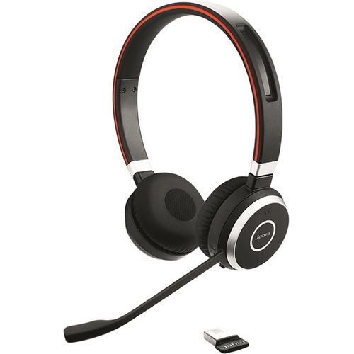Cuffie Jabra EVOLVE 65 MS Wireless Over-the-head Stereo - Binaural - Supra-aural - 3000 cm - Bluetooth - Cancellazione del