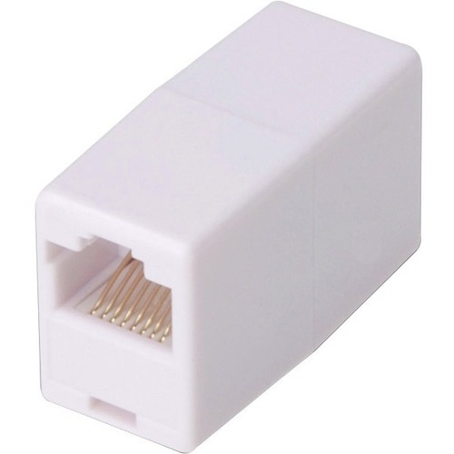 Digitus Network Adapter - 1 x RJ-45 Female Network - 1 x RJ-45 Female Network - Nickel, Gold Contact - White
