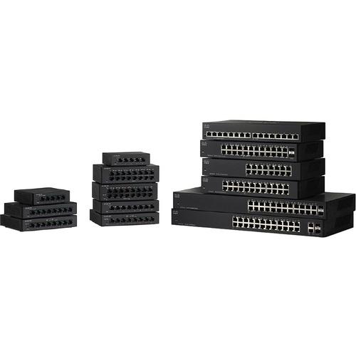 Switch 16 Puertos Capa 2 no administrable SF110D-16  10/100Base-TX - Fast Ethernet  para Escritorio y Pared - el Smartnet