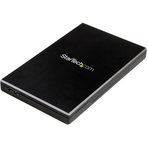 StarTech.com Drive Enclosure SATA/600 - USB 3.1 Micro-B Host Interface - UASP Support External - Black - TAA Compliant - 1