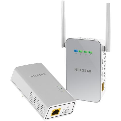 Adattatore Powerline Network - Netgear PLW1000 - 1 x Rete (RJ-45) - 1000 Mbit/s Powerline - 500 m²spazioCopertura area - L