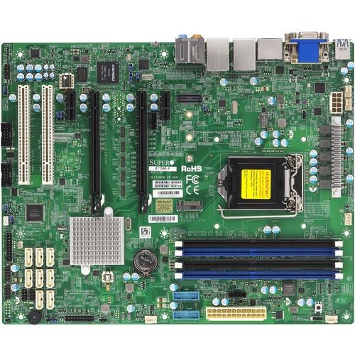 Supermicro X11SAE-F Workstation Motherboard - Intel Chipset - Socket H4 LGA-1151 - ATX - 64 GB DDR4 SDRAM Maximum RAM - DI