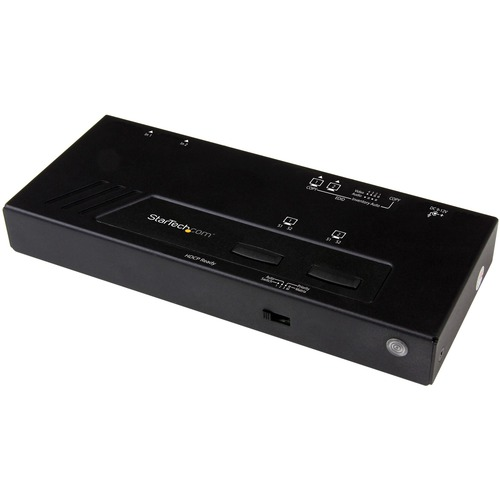 StarTech.com Audio/Video Switchbox - Cable - TAA Compliant - 3840 × 2160 - 4K - 2 Input Device - 2 Display - Display, DVD