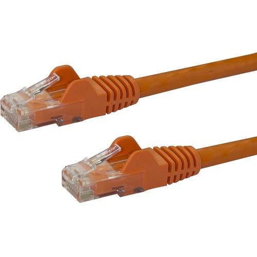 StarTech.com Cavo di rete CAT 6 - 100% Rame - Cavo Patch Ethernet RJ45 UTP arancio da 10m antigroviglio - Estremità 1: 1 x