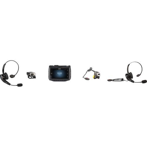 Zebra Wired Over-the-head, Behind-the-neck Mono Headset - Black - Monaural - Supra-aural - 300 Hz to 6 kHz - Noise Canceli
