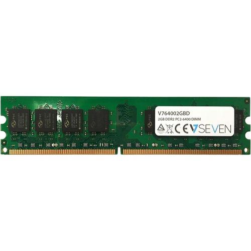 Módulo RAM V7 para Ordenador sobremesa - 2 GB - DDR2-800/PC2-6400 DDR2 SDRAM - 800 MHz - CL6 - Sin búfer - 240-clavijas -