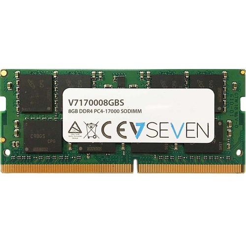 Modulo Memoria V7 per Computer portatile - 8 GB (1 x 8GB) - DDR4-2133/PC4-17000 DDR4 SDRAM - 2133 MHz - CL15 - Unbuffered
