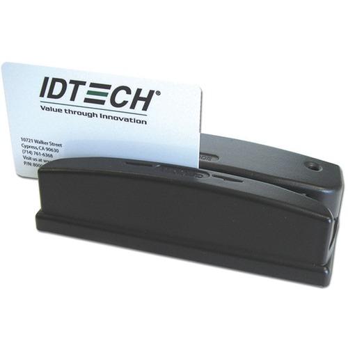 ID TECH Omni WCR3237-712U Magnetic Stripe Reader - Dual Track - 1524 mm/s - Keyboard Wedge - USB - Black