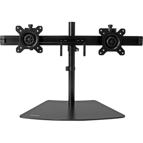 Dual Monitor Mount - Supports Monitors 12'' to 24'' - Adjustable - VESA Monitor Stand for Desk - Low Profile Base - Horizo