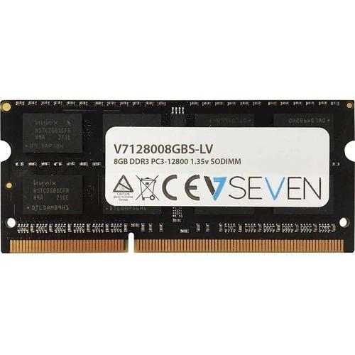 V7 RAM Module for Notebook - 8 GB - DDR3-1600/PC3-12800 DDR3 SDRAM - 1600 MHz - CL11 - Unbuffered - 204-pin - SoDIMM