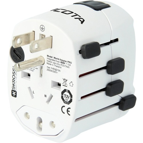 Dicota 2.20 kW AC Adapter - Universal Adapter - USB - For USB Device, iPad, Notebook - 120 V AC, 230 V AC Input - 5 V DC/2