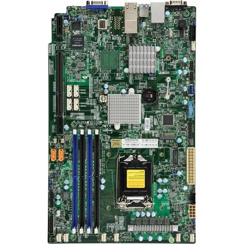 Supermicro X11SSW-TF Server Motherboard - Intel Chipset - Socket H4 LGA-1151 - Proprietary Form Factor - Core i3 Processor