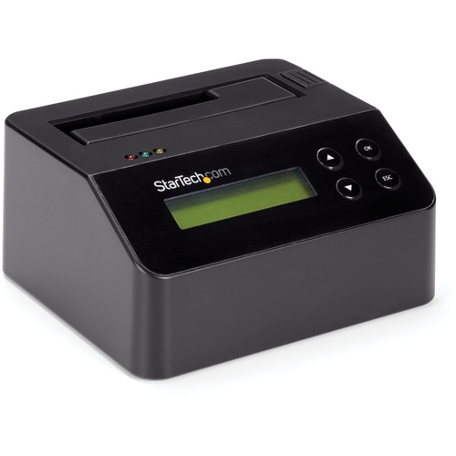 """StarTech.com USB 3.0 Hard Drive Eraser Dock for 2.5"""" & 3.5"""" SATA SSD HDD + 4Kn Drive - LCD/ RS232 - Secure Erase HDD Wiper"""