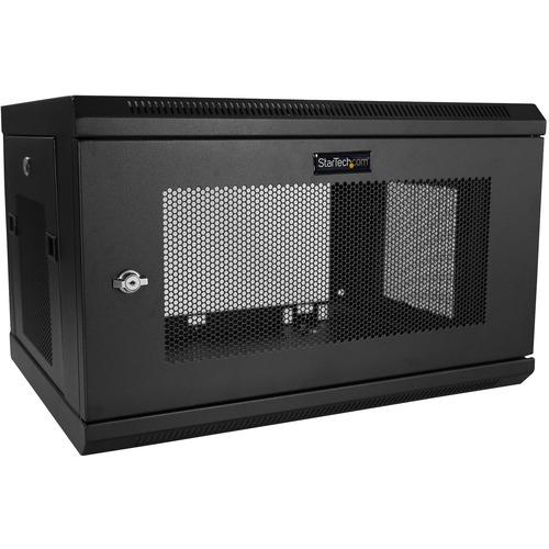 StarTech.com Wall Mount Server Rack Cabinet - 6U Rack - 16.5in Deep - Network Cabinet - Server Enclosure - Network Enclosu