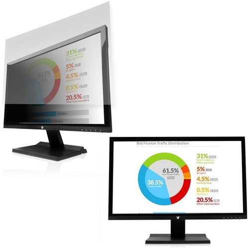 """V7 Privacy Filter WS 23.8"""" Glossy, Matte - For 23.8"""" Widescreen LCD Monitor - 16:9"""