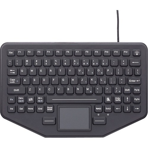 Gamber-Johnson SkinnyBoard Keyboard - TouchPad - Industrial Silicon Rubber Keyswitch