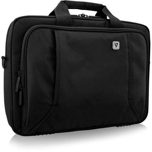 """V7 PROFESSIONAL CTP16-BLK-9E Carrying Case for 39.6 cm (15.6"""") Notebook - Black - Weather Resistant - Handle"""