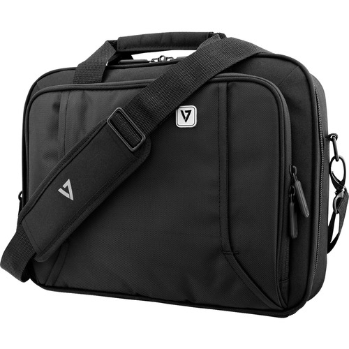 """V7 PROFESSIONAL CCP13-BLK-9E Carrying Case for 33.8 cm (13.3"""") Notebook - Black - Weather Resistant - Handle"""