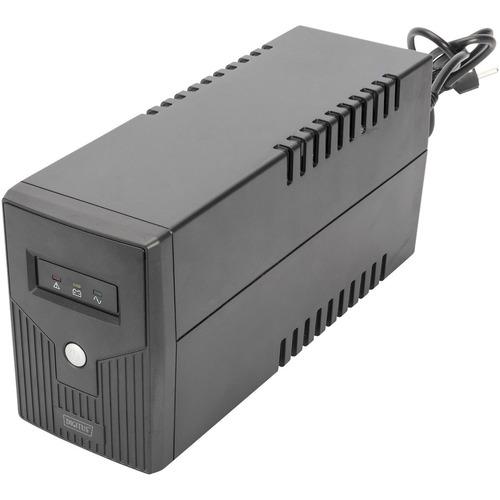 Digitus Line-interactive UPS - 600 VA/360 W - Compact - 8 Hour Recharge - 230 V AC Input - 230 V AC Output - 2 x AC Power
