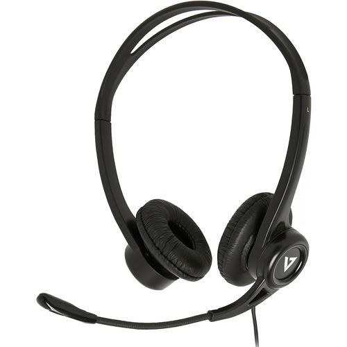 Auriculares V7 HU311-2EP Cableado De Diadema Estéreo - Negro - Biauricular - Supra-aural - 32 Ohm - 20 Hz a 20 kHz - 180 c