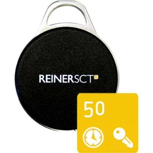 Reinersct RFID Tag - RF Card43.40 mm Length - 34.30 mm Diameter - 50 - Matte Black
