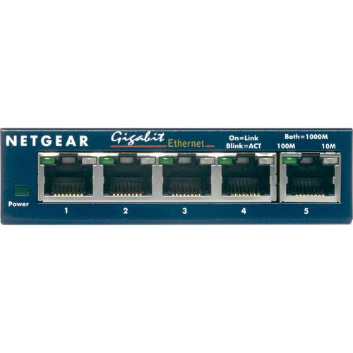 ProSafe Switch 5 porte 1000Base-T - alimentatore esterno - Metal case - Contratto di supporto disponibile
