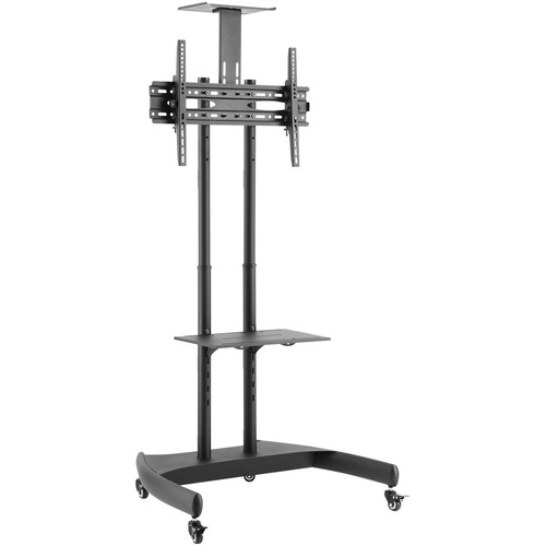 """V7 TVCART1-3E Display Stand - Up to 177.8 cm (70"""") Screen Support - 50 kg Load Capacity - 2 x Shelf(ves) - 181.3 cm Height"""