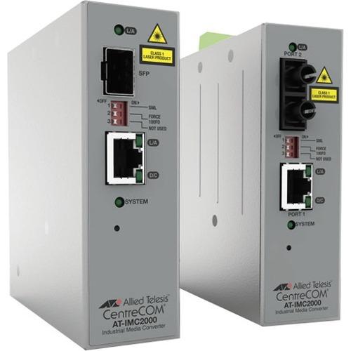 Convertitore file multimediali/ricetrasmettitore Allied Telesis IMC200T/SC - TAA Conforme - 2 Porta(e) - 1 x Rete (RJ-45)