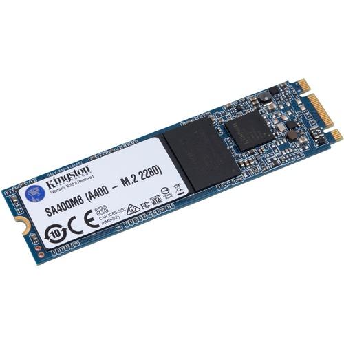 Kingston A400 240 GB Solid State Drive - M.2 2280 Internal - SATA (SATA/600) - 80 TB TBW - 500 MB/s Maximum Read Transfer