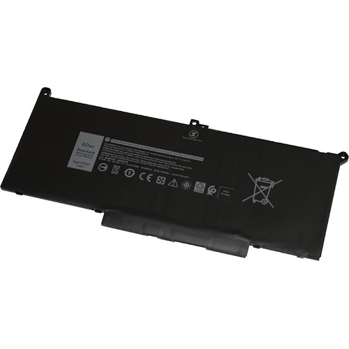 V7 Replacement Battery for Selected DELL Laptops - For Notebook - Battery Rechargeable - 7894 mAh - 7.6 V DC