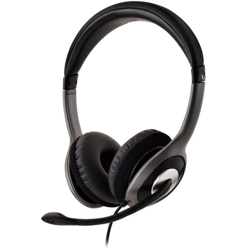 V7 Deluxe USB Stereo Headphones with Microphone - Stereo - USB - Wired - 32 Ohm - 20 Hz - 20 kHz - Over-the-head - Binaura