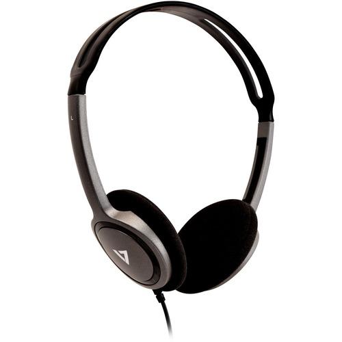 V7 HA310-2EP Wired Over-the-head Binaural Stereo Headphone - Black - Supra-aural - 32 Ohm - 1.80 m Cable - Mini-phone (3.5mm)