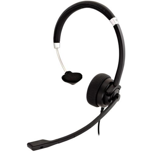 Cuffie V7 Deluxe HA401 Cavo Over-the-head Mono - Nero, Argento - Monoaurale - Supra-aural - 31,50 Hz a 20 kHz - 180 cm Cav