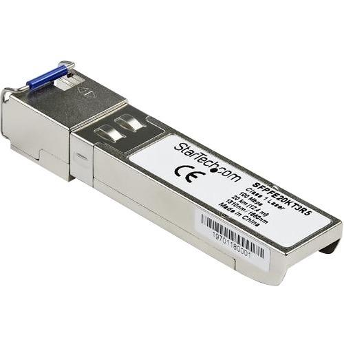 StarTech.com Juniper SFP-FE20KT15R13 Compatible SFP Module - 100BASE-BX-D - 10 GbE Gigabit Ethernet BiDi Fiber (SMF) - Jun