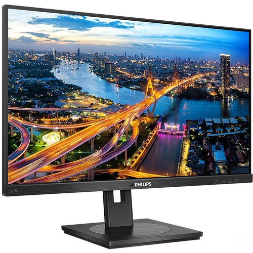 """Philips 242B1V 60.5 cm (23.8"""") Full HD WLED LCD Monitor - 16:9 - Textured Black - 609.60 mm Class - In-plane Switching (IP"""