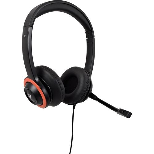 Cuffie V7 HU540E Cavo Over-the-head Stereo - Nero, Rosso - Binaural - Supra-aural - 32 Ohm - 200 cm Cavo - Cancellazione d