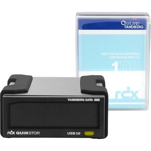Overland RDX QuikStor 8863-RDX 1 TB Hard Drive Cartridge - External - Black - USB 3.0