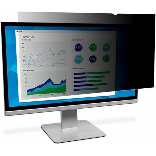 "3M Anti-glare Privacy Screen Filter - Black, Glossy, Matte - For 109.2 cm (43"") Widescreen LCD Monitor - 16:9 - Scratch Re"