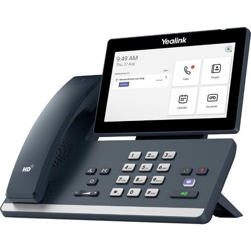 Yealink MP58 IP Phone - Corded/Cordless - Corded - Desktop - Classic Gray - VoIP - 2 x Network (RJ-45) - PoE Ports