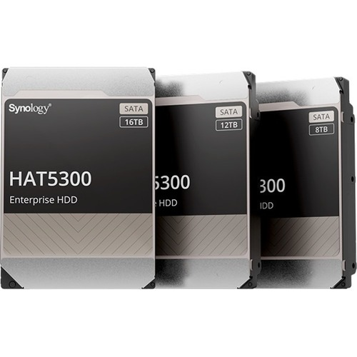 """Synology HAT5300-16T 16 TB Hard Drive - 3.5"""" Internal - SATA (SATA/600) - Server, Storage System Device Supported - 7200rp"""