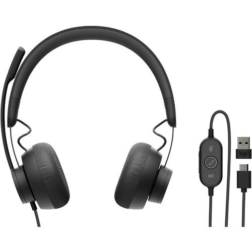 Cuffie Logitech Zone 750 Cavo Over-the-head Stereo - Grafite - Binaural - Ear-cup - 32 Ohm - 20 Hz a 16 kHz - Unidireziona